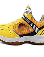 Men's Shoes Tulle Athletic Sneakers Athletic Indoor Court Low Heel Lace-up Yellow