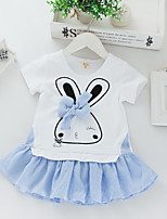 Baby Casual/Daily Solid Clothing Set-Cotton / Polyester-Summer-Blue / Pink