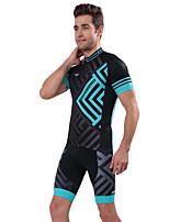 Deportes Bicicleta/Ciclismo Tops / Prendas de abajo Hombres Mangas cortas Transpirable / Reductor del Sudor Elastán BlancoS / M / L / XL
