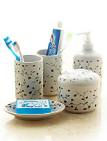 Ceramic  Lotion Bottle/ Soap Dishes/ Toothbrush Cup  5 pcs/set   Fujihana