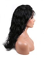 EVAWIGS Brazilian Human Hair Wig Full Lace Wig Natural Black Color Fashion Body Wave Wig for Young Girls