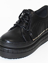 Women's Shoes PU Fall / Winter Creepers Clogs & Mules Outdoor / Casual Platform Beading / Tassel Black / White / Silver