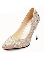 Women's Heels Summer Heels PU Casual Stiletto Heel Sparkling Glitter Black / Red / Silver / Rose Gold Others