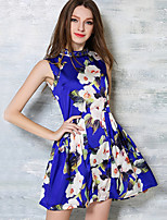 Maxlindy Women's Going out / Casual/Beach / Party/Holiday Cute / Street chic A Line Mini Dress