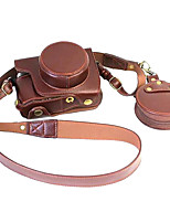 Olympus E - M10ii camera holster removable battery EM10ii leather camera bags