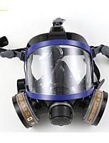 nh-9006 de silicona anti-virus completamente cómodo con doble filtro respiratorio de máscara completa con cartuchos químicos