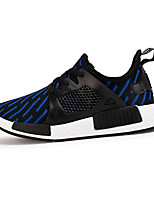 Men's Shoes Stretch Satin Athletic Sneakers Athletic Sneaker Flat Heel Lace-up Black / Blue / White