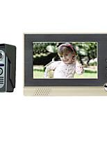 7 inch color video intercom doorbell hands-free intercom doorbell spyhole building