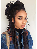 Box Braids / Crochet Twist Braids Hair Extensions 24Inch Kanekalon 12 Strand 90g gram Hair Braids Dark Brown