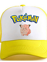 Pocket Monster-Ash Ketchum-Blanco / Amarillo-Charmeuse-Sombrero/Gorra-