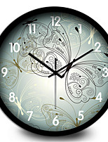 Fresh Butterfly Large Bedroom Kitchen Living Room Wall Clock