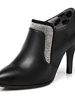 Damenschuhe-High Heels / Stiefel-Kleid / Lässig / Party & Festivität-Kunstleder-Stöckelabsatz-Absätze / Stifelette / Spitzschuh-Schwarz /