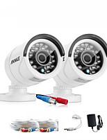SANNCE® New White 720P AHD Indoor And Outdoor IR Cut CCTV Camera Kits Weatherproof Home Security System Kits