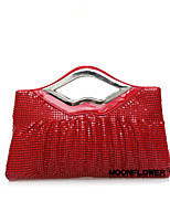 Women-Event/Party / Wedding-Glitter / Metal / Satin-Clutch-Gold / Red / Silver / Black / Khaki