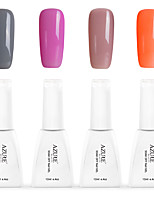 12ml Azure Summer Color Nail Polish 4PCS Soak off UV Gel Nails Art Decoration NO.3