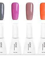 12ml Azure Summer Color Nail Polish 4PCS Soak off UV Gel Nails Art Decoration NO.3