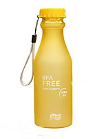 bouteille d'eau en plastique givré / tasses de voyage (couleur aléatoire)