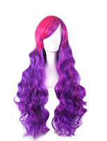 Cosplay Wigs Red Mix Purple Long Loose Wave Synthetic Special Party Wigs