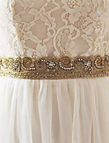 Эластичный сатин Свадьба Кушак-Бусины Женский 250 см Бусины