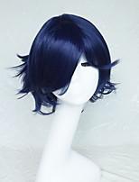 personnages de dessins animés couleur bleu marine cosplay perruque perruque deviennent gauchi 10 pouces