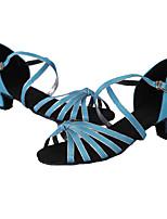 Customizable Women's Dance Shoes Leather Leather Latin / Dance Sneakers Heels Low Heel Indoor / Performance Brown /
