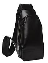 Unisex Cowhide Casual Shoulder Bag - Blue / Brown / Black