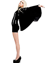 Women's  Sexy Slim PVC Catsuit With Shawl