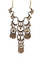 Atmospheric Water Droplets Tassel Hollow Necklace