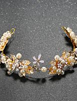 Women's / Flower Girl's Pearl / Rhinestone / Alloy Headpiece-Wedding / Special Occasion Tiaras 1 Piece Clear / White