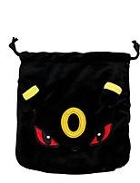 Pocket Monster-Pikachu-Preto- deVeludo Cotelê-Bolsa