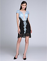 TS Couture® Cocktail Party Dress Sheath / Column Scoop Short / Mini Lace with Lace