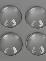 Charms glas / Plastic Round Shape transparent 10Pcs