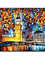 Hand Painted Oil Painting London Tower with Stretched Frame Ready to Hang