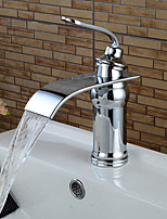 Bathroom Sink Faucets Contemporary Chrome Waterfall