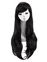 Black Color Cosplay Synthetic Wigs Cheap Straight Wigs For Black Women Fashion Wigs