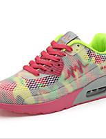 Da donna-Sneakers-Tempo libero / Casual / Sportivo-Punta arrotondata / Comoda-Zeppa-Vernice / Tulle-Nero / Blu / Giallo