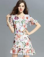 Viva Vena® Women's Round Neck Short Sleeve Knee-length Dress-VA88163