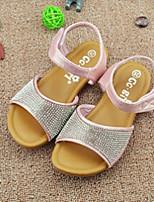 Girls' Shoes Casual Glitter Summer Comfort / Sandals Pink / Silver