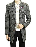 In the long winter Metrosexual British men's suit slim Korean woolen jacket windbreaker male thick coat