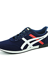 Men's Shoes Suede Athletic Sneakers Athletic Indoor Court Flat Heel Others / Lace-up Black / Blue / Red