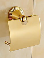 Toilet Paper Holder / Polished Brass / Wall Mounted /15*10*20 /Brass /Antique /15 10 0.381