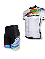 SPAKCT Bike/Cycling Jersey + Shorts / Clothing Sets/Suits Men's Short SleeveHigh Breathability (>15,001g) / Quick Dry / Anatomic Design /