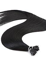 jet neitsi nero cheratina dritto mi punta bastone remy dei capelli prebonded 25g / lot