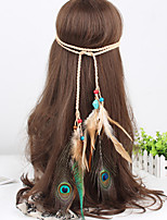 Women's Western Style Feather Beads Weave Headbands 1 Piece