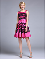 TS Couture® Cocktail Dress A-line Square Knee-length Satin with Lace
