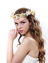 Damen Polyester / Stoff Kopfschmuck-Hochzeit / Besondere Anlässe / im Freien Kränze 1 Stück Mehrfarbig Blume 55-60cm