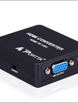 PORTTA HDMI To VGA + 3.5MM Mini Converter 1080P