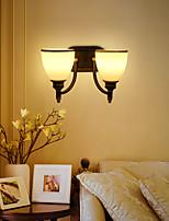 AC 100-240 2*60w E26/E27 Rustico/lodge Pittura caratteristica for Stile Mini,Luce ambient Lampade a candela da parete Luce a muro