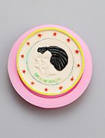 versión conmemorativa de los moldes de silicona cabeza de forma de chocolate, moldes para pasteles, moldes de jabón, herramientas de