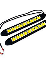Jiawen blanc + jaune clair torchis conduit 400lm voiture éclairage diurne (dc 12v / 2pcs)